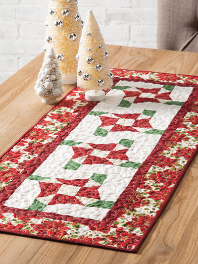 EXCLUSIVELY ANNIE'S QUILT DESIGNS: Holiday Bows Table Runner