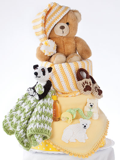 Bear and Bear and Bears, Oh My Diaper Cake Crochet Pattern