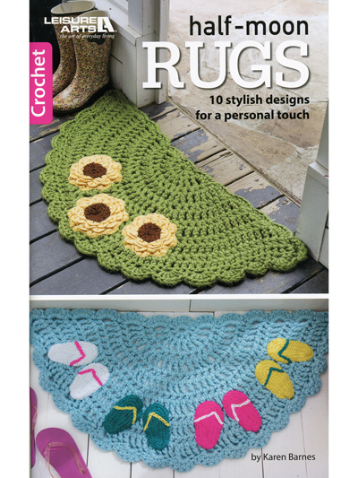 Crochet Rug Patterns Half Moon Rugs Crochet Pattern Book