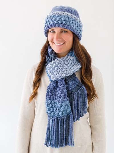Crochet Scarf Patterns Snug Cozy Hat Scarf Crochet Pattern