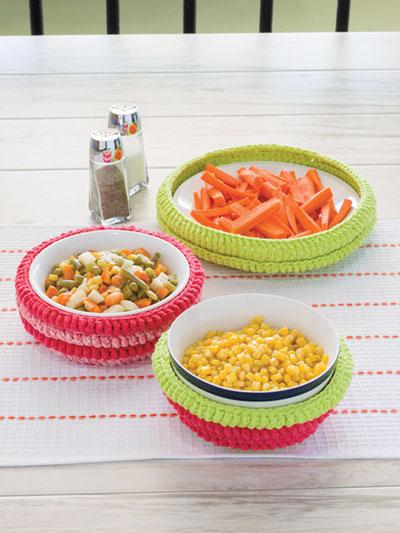 Microwave Bowl Set Crochet Pattern