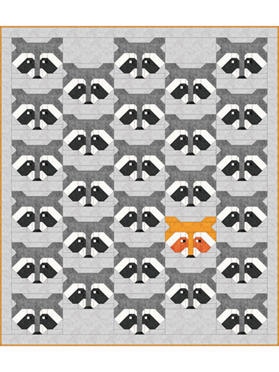 Pieced Baby Kids Quilt Patterns Raccoon Quilt Pattern