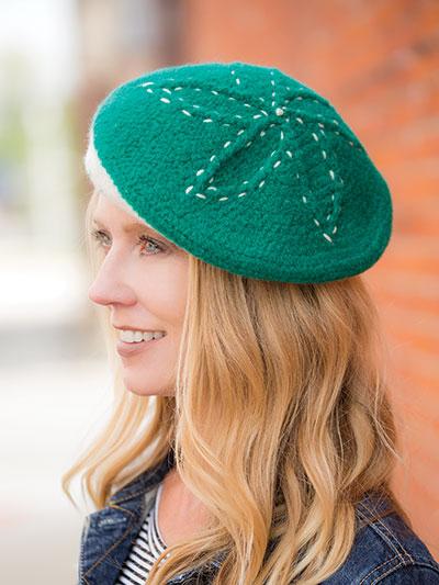 Crochet Emerald Bloom Beret Crochet Pattern Ac04427