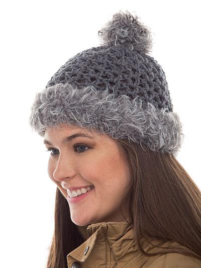 9cf1ff6b49c Crochet Hat   Gloves Patterns - Fur Trim Beanie Crochet Pattern