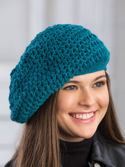 Crochet Hat Gloves Patterns Neptune Slouch Beret Crochet Pattern