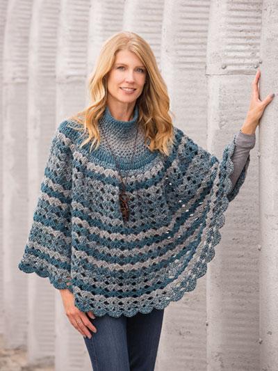 Crochet Open Shells Poncho Crochet Pattern Ac04426
