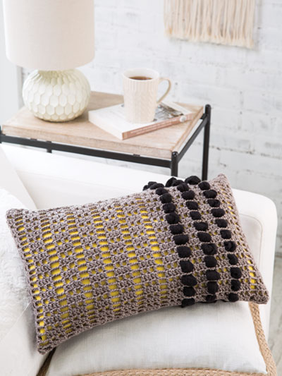 Crochet Downloads For The Home Bobbles Pillow Crochet Pattern