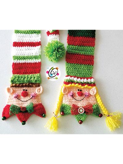 Long Tail Elf Scarf Crochet Pattern
