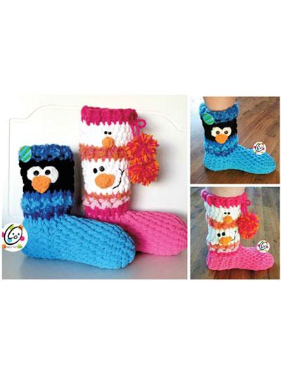 SNOWman Boots Crochet Pattern