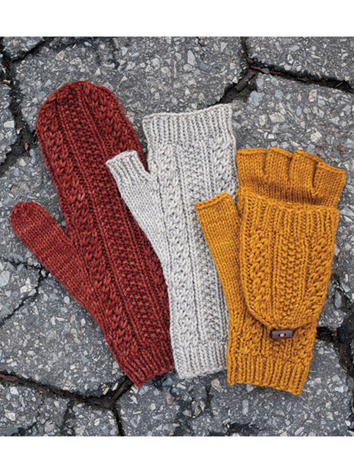 New Knitting Patterns Cabled Dad Mittens Knit Pattern