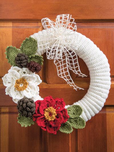 Crochet Holiday Traditions Wreath Crochet Pattern Yc04582