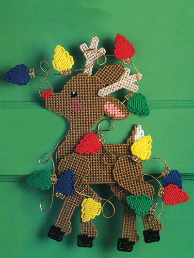 reindeer dilemma plastic canvas pattern