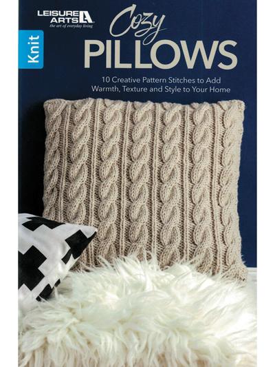New Knitting Patterns Cozy Pillows Knit Pattern Book