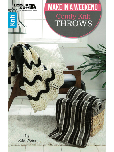 New Knitting Patterns Make In A Weekend Comfy Knit Throws Pattern