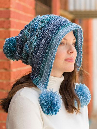 c40723626fb24 Crochet Patterns - Lacy Pompom Snow Hat Crochet Pattern