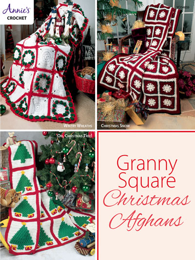 Granny Square Christmas Afghans Crochet Pattern