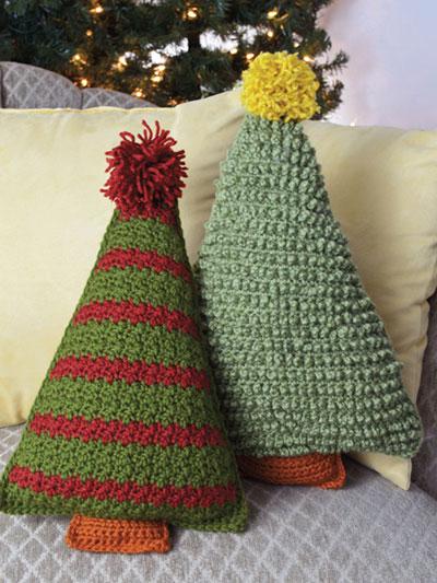 Crochet Christmas Tree.Christmas Tree Pillows Crochet Pattern