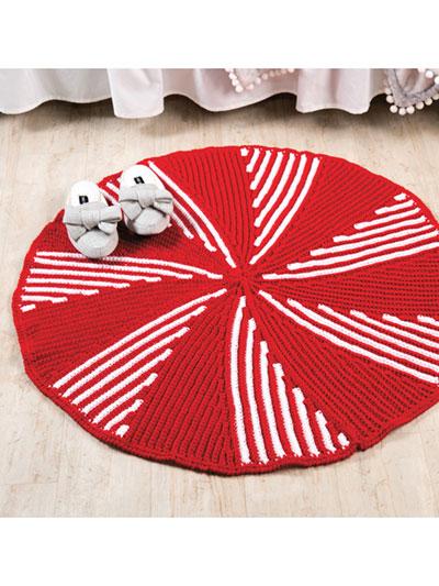 7f2cdbdff775 Seasonal Crochet Patterns - Peppermint Twist Rug Crochet Pattern