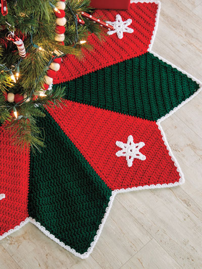 Snowflake Tree Skirt Crochet Pattern