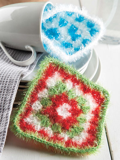 New Crochet Patterns Granny Square Scrubbies Crochet Pattern