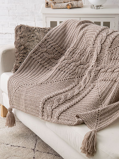 Celtic Cross Cable Throw Crochet Pattern
