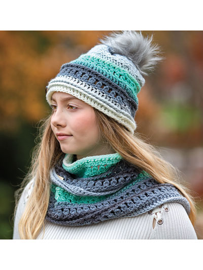 Wintergreen Hat and Infinity Scarf Crochet Pattern