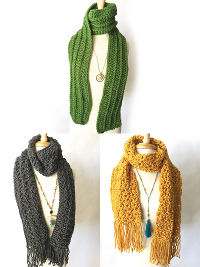 Super Simple Textured Scarves Crochet Pattern