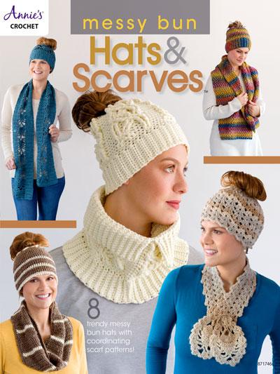 7a9ae582cb3 Crochet Patterns - Messy Bun Hats   Scarves Crochet Pattern Book