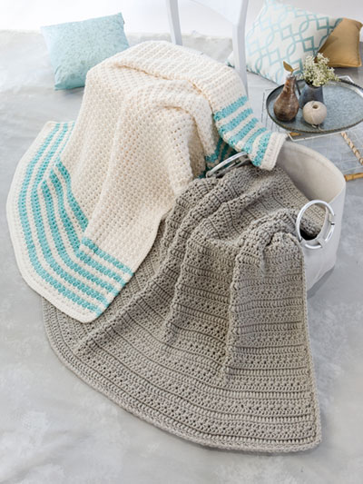 Easy Farmhouse Style Afghans Crochet Pattern