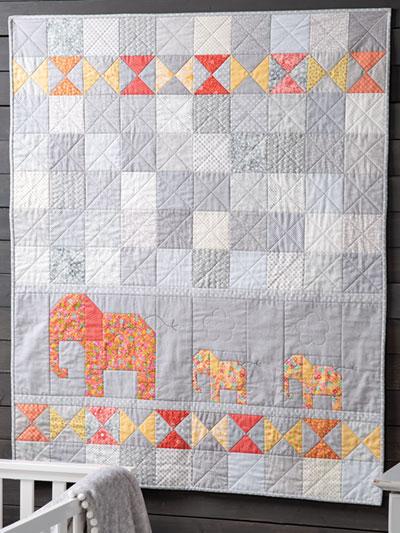 Baby Quilt Patterns.Exclusively Annie S Quilt Designs Elephant Walk Quilt Pattern