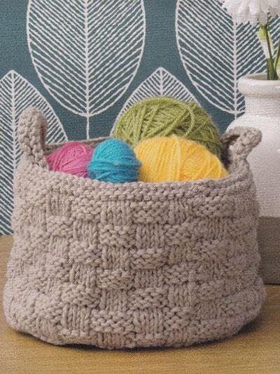 Basket Stitch Container Knit Pattern