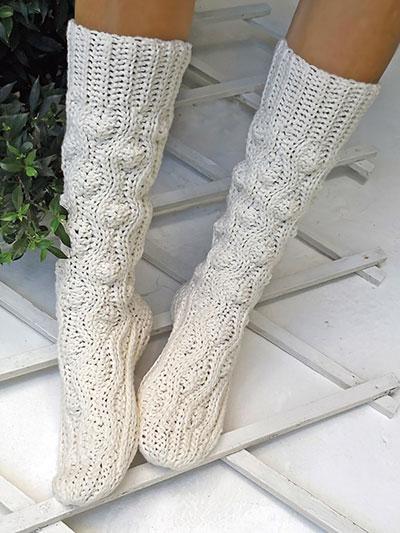 Crochet Socks Patterns Aran Wave Socks Crochet Pattern