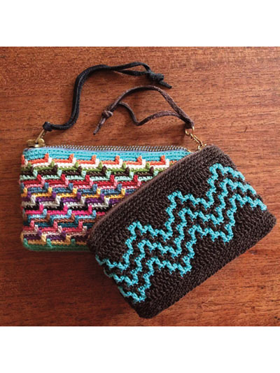 Crochet Handbag Patterns Mosaic Purses Crochet Pattern