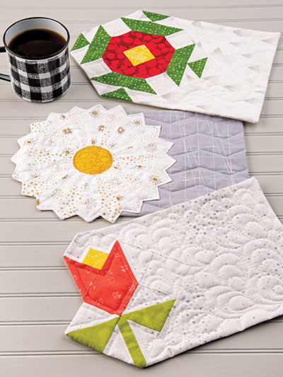 Exclusively Annie S Quilt Designs Fl Mug Rugs Pattern