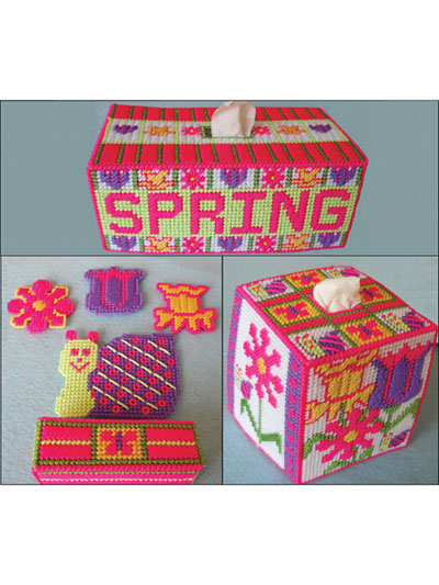 Plastic Canvas Tissue Box Covers Page 1
