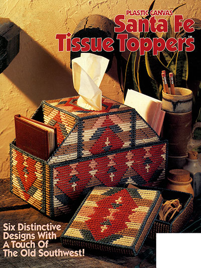 Canvas Santa Fe >> Plastic Canvas Books Santa Fe Tissue Toppers Plastic Canvas Pattern