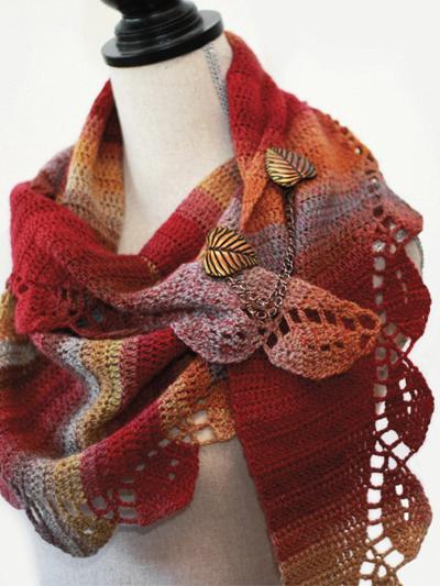 Autumn Leaves Shawl Crochet Pattern