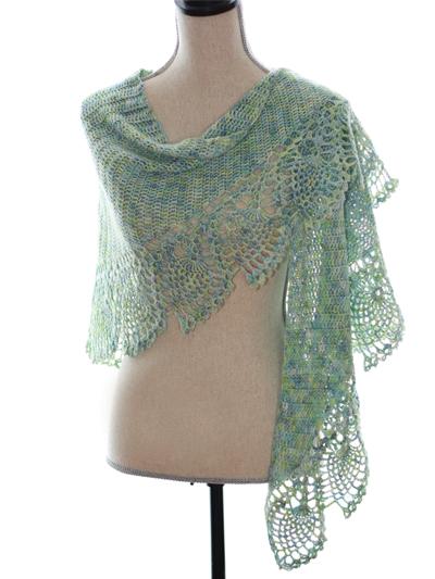 Crochet Patterns Sea Glass Shawl Crochet Pattern