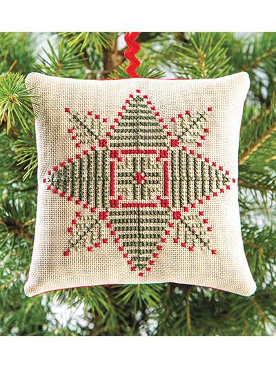 58bc240cc Evergreen Star Ornament Cross Stitch Pattern