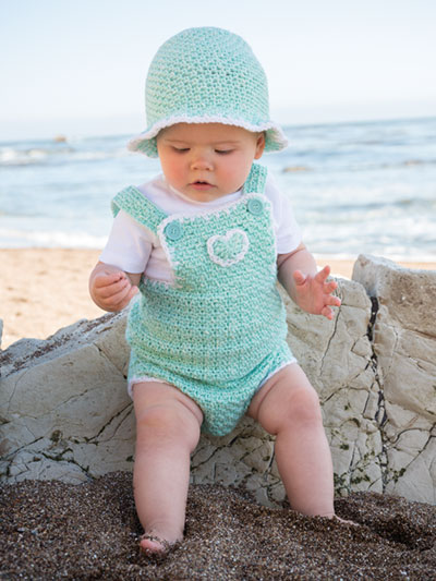 3d73a036be3 ANNIE S SIGNATURE DESIGNS  Baby Romper   Sun Hat Crochet Pattern