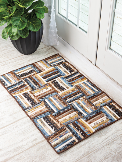 EXCLUSIVELY ANNIE'S QUILT DESIGNS: Strip Roll Rug Pattern