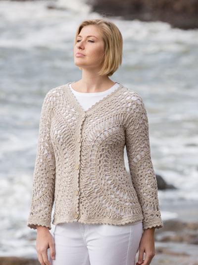 332d96761 ANNIE S SIGNATURE DESIGNS  Golden Circles Cardigan Crochet Pattern