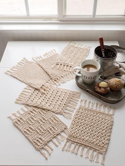 SIGNATURE DESIGNS: Rustic Mug Rugs Crochet Pattern