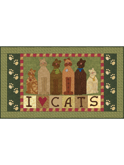I Love Cats Quilt Pattern