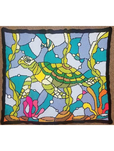 Stained Glass Sea Turtle Crochet Pattern