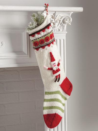 Waiting for Santa Stocking Knit Pattern