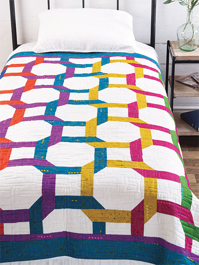 Wedding Ring Quilt Pattern.Contemporary Wedding Ring Quilt Pattern
