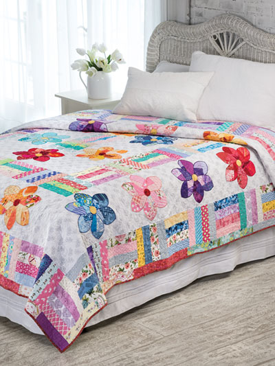 Crazy Daisy Scrap Quilt Pattern Easy Quilt patterns to make