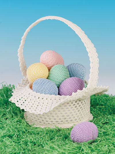 Easter Morning Basket and Eggs Crochet Pattern
