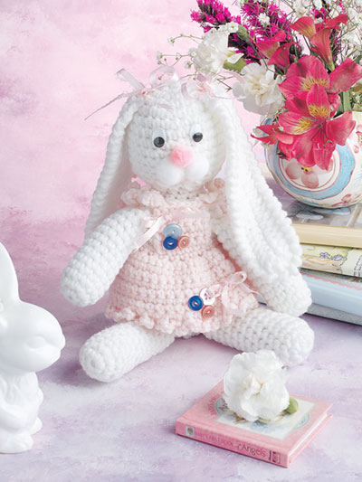 Buttons & Bows Bunny Crochet Pattern